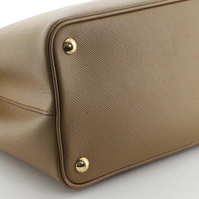 Prada Cuir Double Tote Saffiano Leather Medium 1