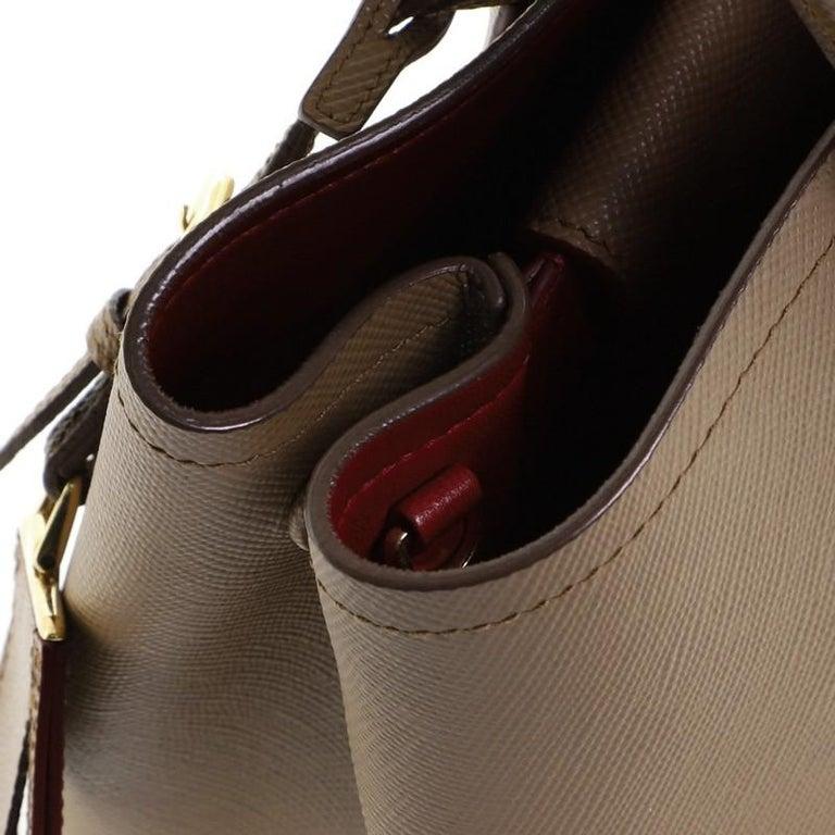 Prada Cuir Double Tote Saffiano Leather Medium 2