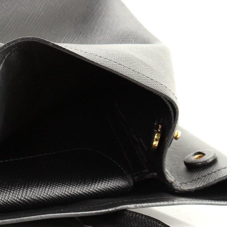 Prada Cuir Double Tote Saffiano Leather Medium For Sale 4