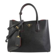 Prada Cuir Double Tote Saffiano Leather Medium