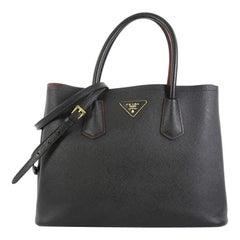 Prada Cuir Double Tote Saffiano Leather Small