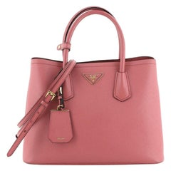 Prada Cuir Double Tote Saffiano Leather Small