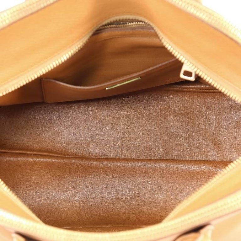 Prada Cuir Triple Zip Dome Tote Saffiano Leather at 1stdibs 3255c763a8