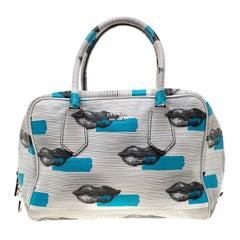 Prada Daino Leather Saint Lip Bauletto Bag