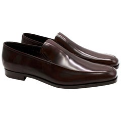 Prada Dark Brown Leather Loafers - Us size 9