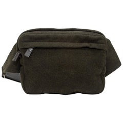 Prada Dark Brown Wool Belt Bag