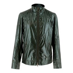 Prada Dark Green Waxed Jacket M