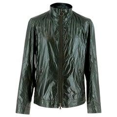 Prada Dark Green Waxed Jacket - Size M