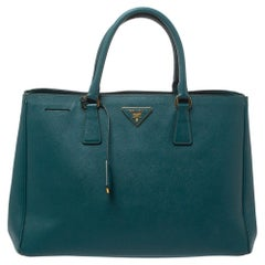 Prada Deep Green Saffiano Lux Leather Large Gardener's Tote