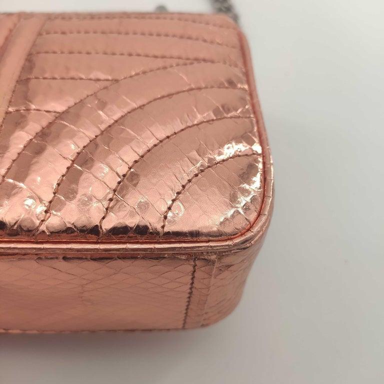 PRADA Diagramme Shoulder bag in Pink Leather For Sale 7