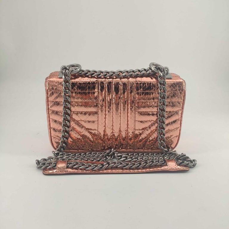 Brown PRADA Diagramme Shoulder bag in Pink Leather For Sale