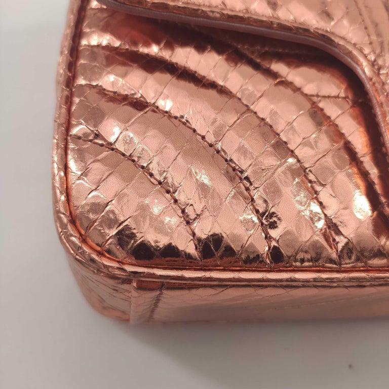 PRADA Diagramme Shoulder bag in Pink Leather For Sale 4