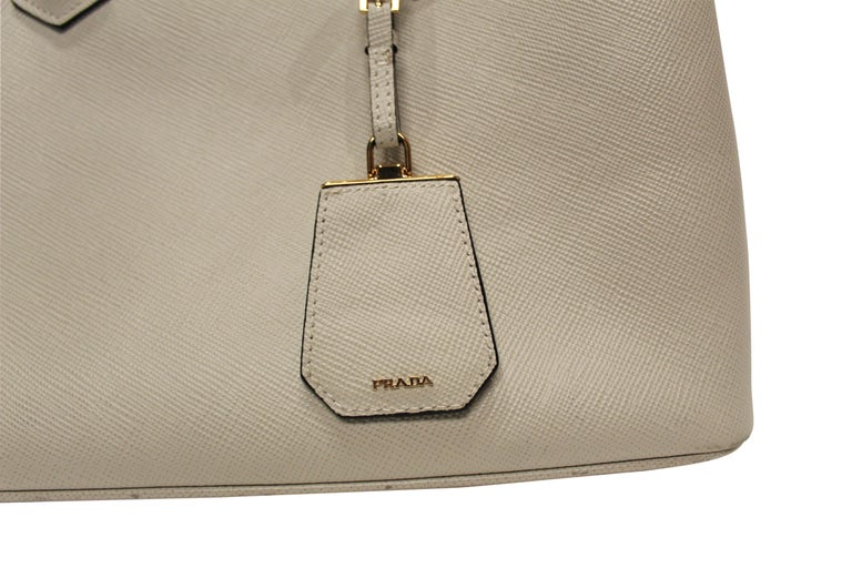 Beige PRADA Double Bag Medium  For Sale