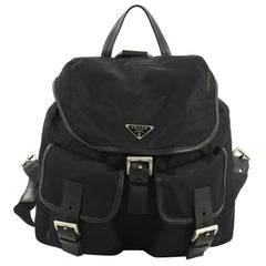 Prada Double Front Pocket Backpack Tessuto Medium