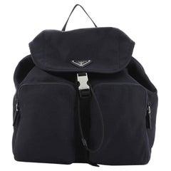 Prada Double Front Pocket Backpack Tessuto Medium