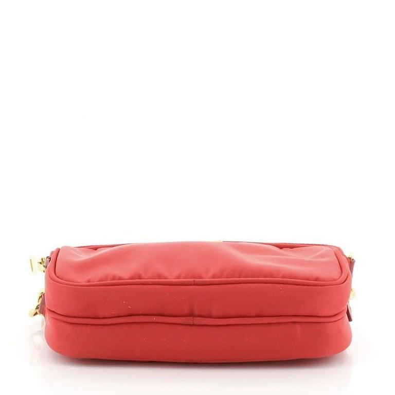 Women's or Men's Prada Double Zip Camera Bag Tessuto Mini For Sale