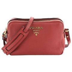 Prada Double Zip Camera Bag Vitello Daino