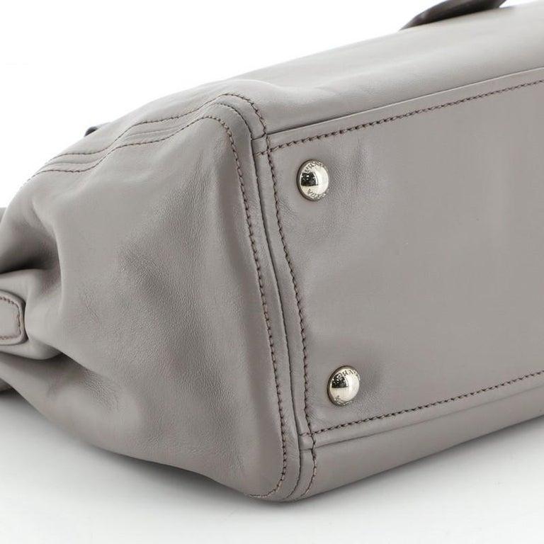 Prada Double Zip Convertible Tote Soft Calfskin Medium  1