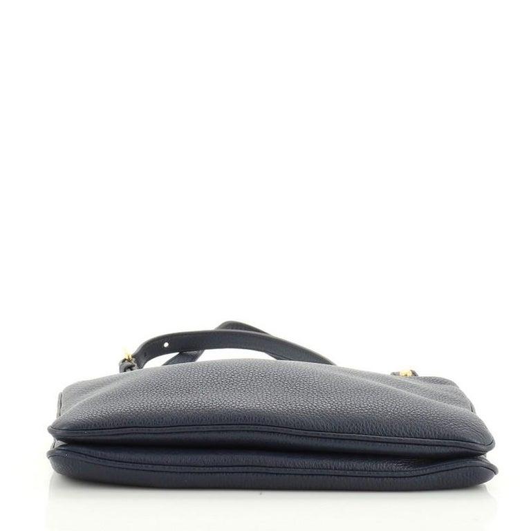 Women's or Men's Prada Double Zip Crossbody Bag Vitello Daino Small For Sale