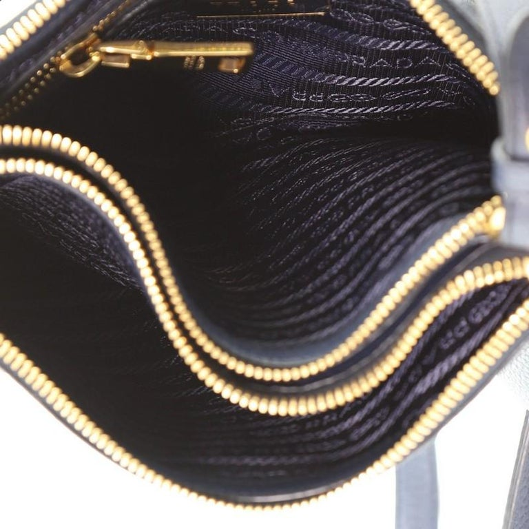 Prada Double Zip Crossbody Bag Vitello Daino Small For Sale 1