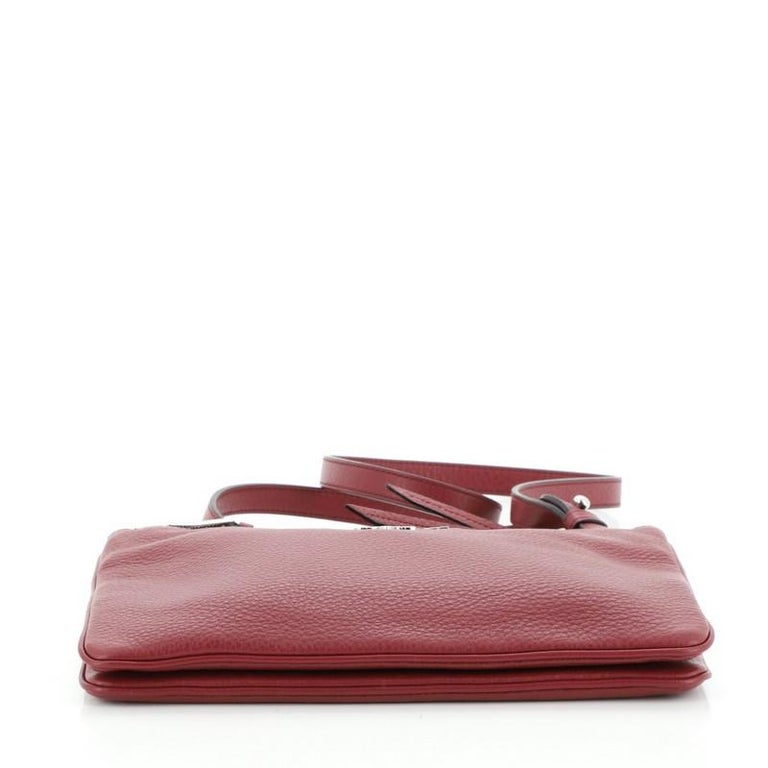 Women's or Men's Prada Double Zip Crossbody Bag Vitello Phenix Small For Sale