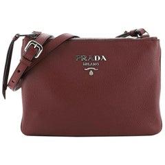 Prada Double Zip Crossbody Bag Vitello Phenix Small