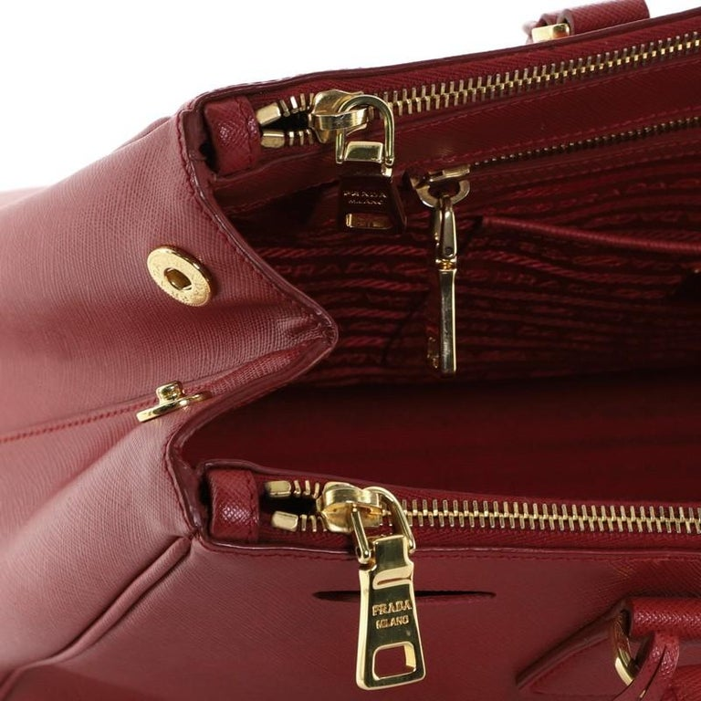 Prada Double Zip Lux Tote Saffiano Leather Large For Sale 3