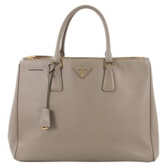 Prada Double Zip Lux Tote Saffiano Leather Large