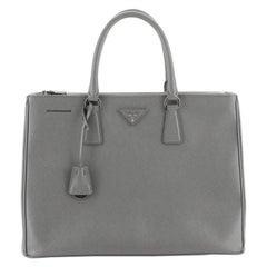 Prada Double Zip Lux Tote Saffiano Leather Large