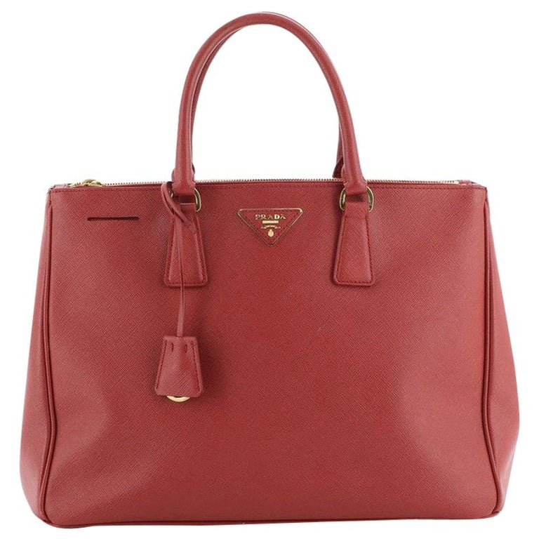 Prada Double Zip Lux Tote Saffiano Leather Large For Sale