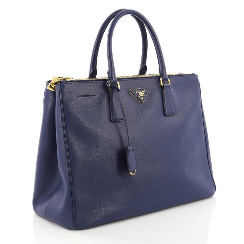 4f3277c1379c73 ... good purple prada double zip lux tote saffiano leather medium for sale  a82db 783c9