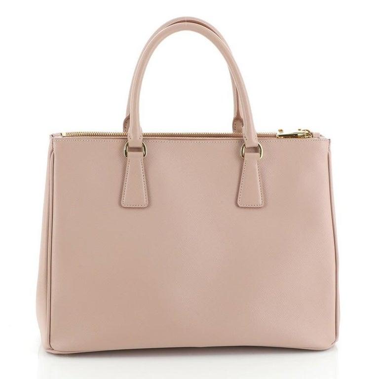 Women's or Men's Prada Double Zip Lux Tote Saffiano Leather Medium For Sale