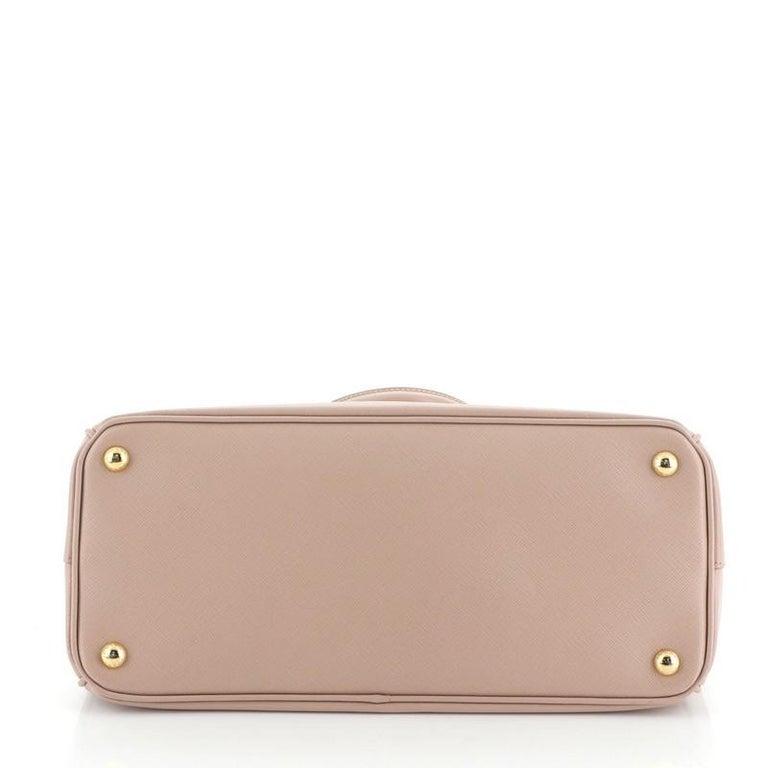 Prada Double Zip Lux Tote Saffiano Leather Medium For Sale 1