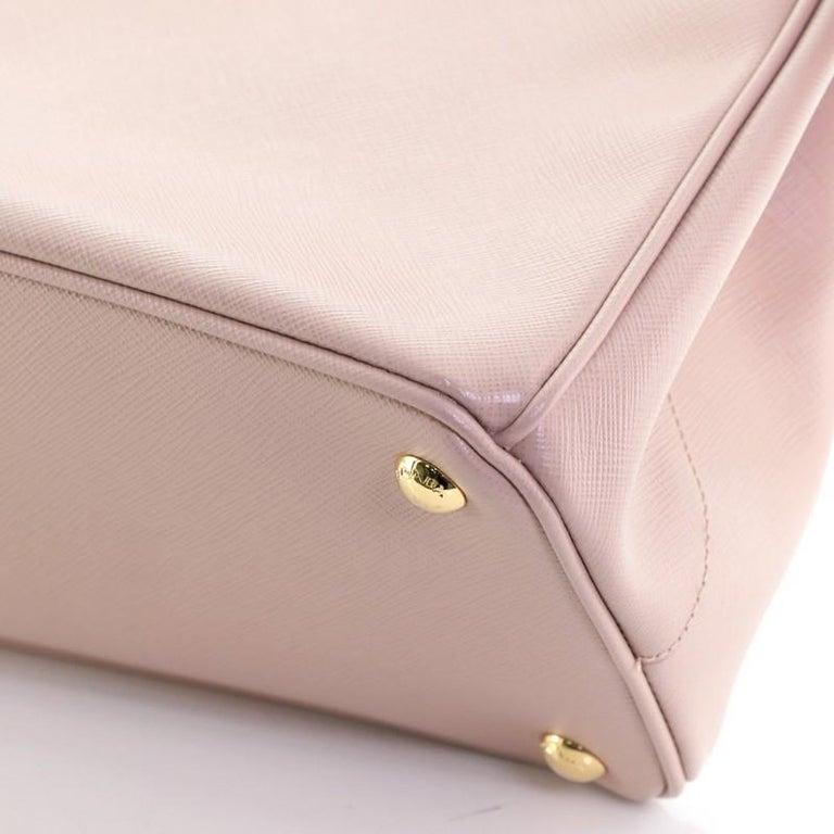 Prada Double Zip Lux Tote Saffiano Leather Medium For Sale 3