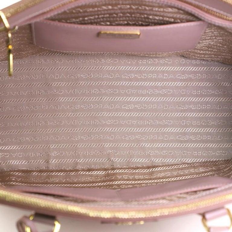 Prada Double Zip Lux Tote Saffiano Leather Medium For Sale 5