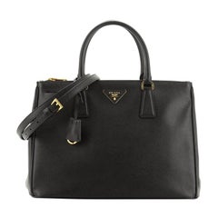 Prada Double Zip Lux Tote Saffiano Leather Medium