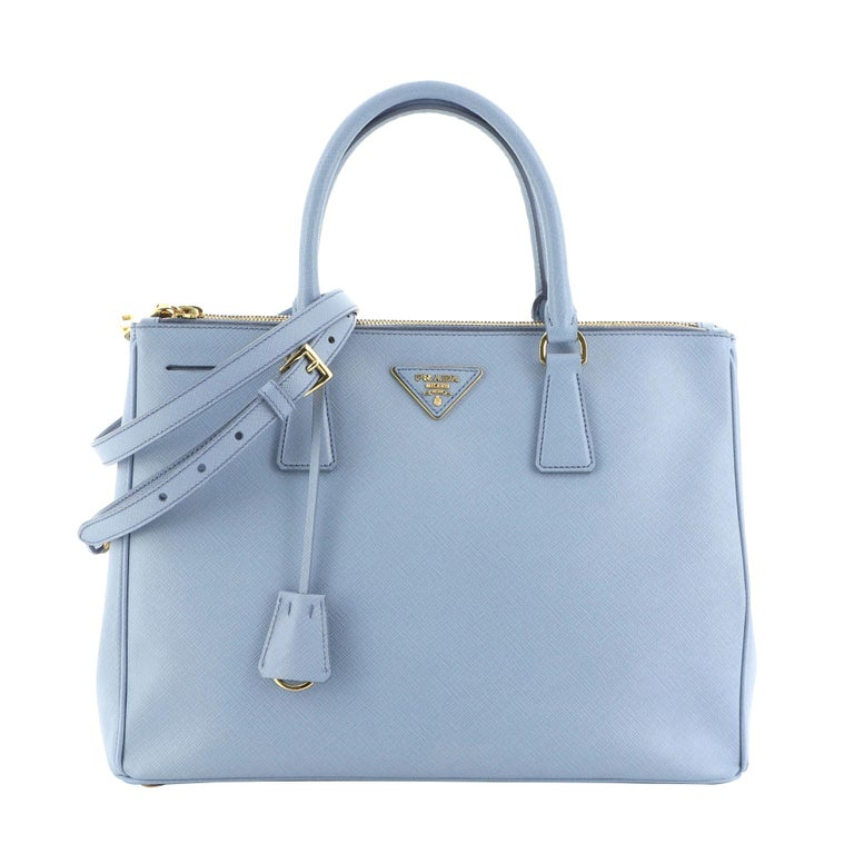 Prada Double Zip Lux Tote Saffiano Leather Medium For Sale