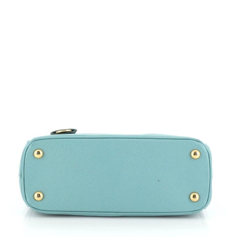 Women's or Men's Prada Double Zip Lux Tote Saffiano Leather Mini For Sale
