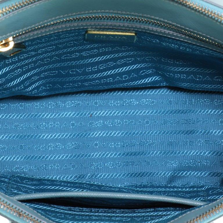 Prada Double Zip Lux Tote Saffiano Leather Mini For Sale 1