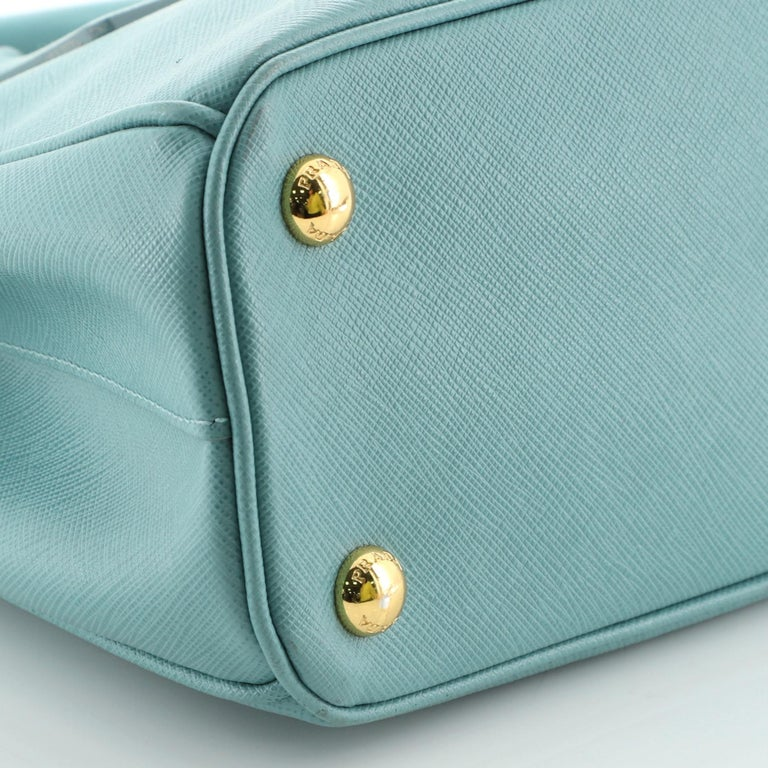 Prada Double Zip Lux Tote Saffiano Leather Mini 2
