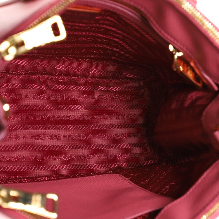 Prada Double Zip Lux Tote Saffiano Leather Mini For Sale 2