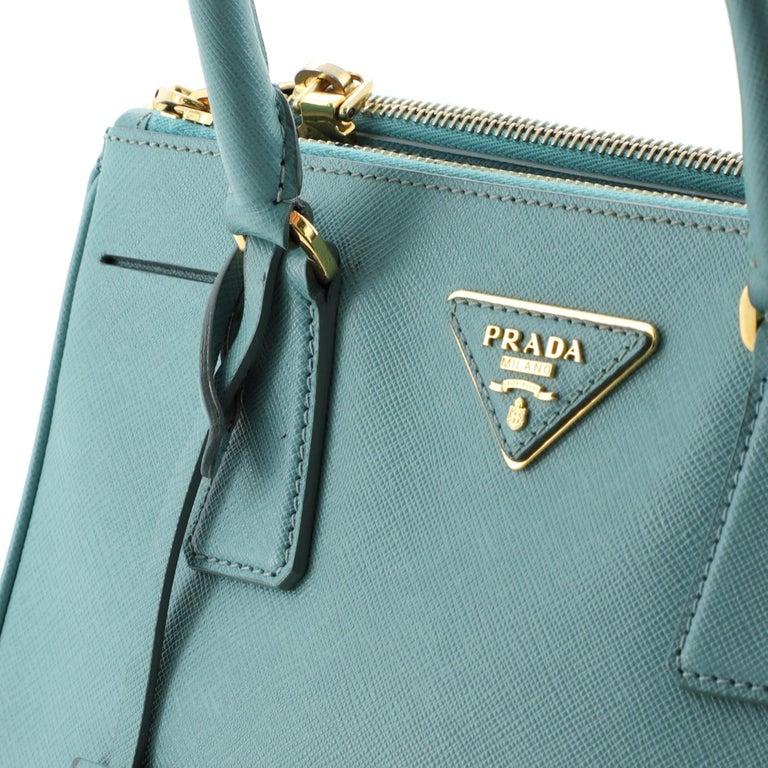 Prada Double Zip Lux Tote Saffiano Leather Mini For Sale 2