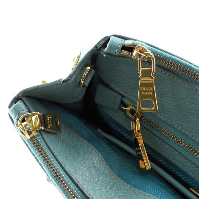 Prada Double Zip Lux Tote Saffiano Leather Mini For Sale 3