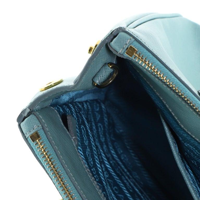 Prada Double Zip Lux Tote Saffiano Leather Mini 4