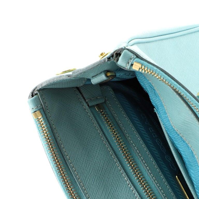 Prada Double Zip Lux Tote Saffiano Leather Mini For Sale 4