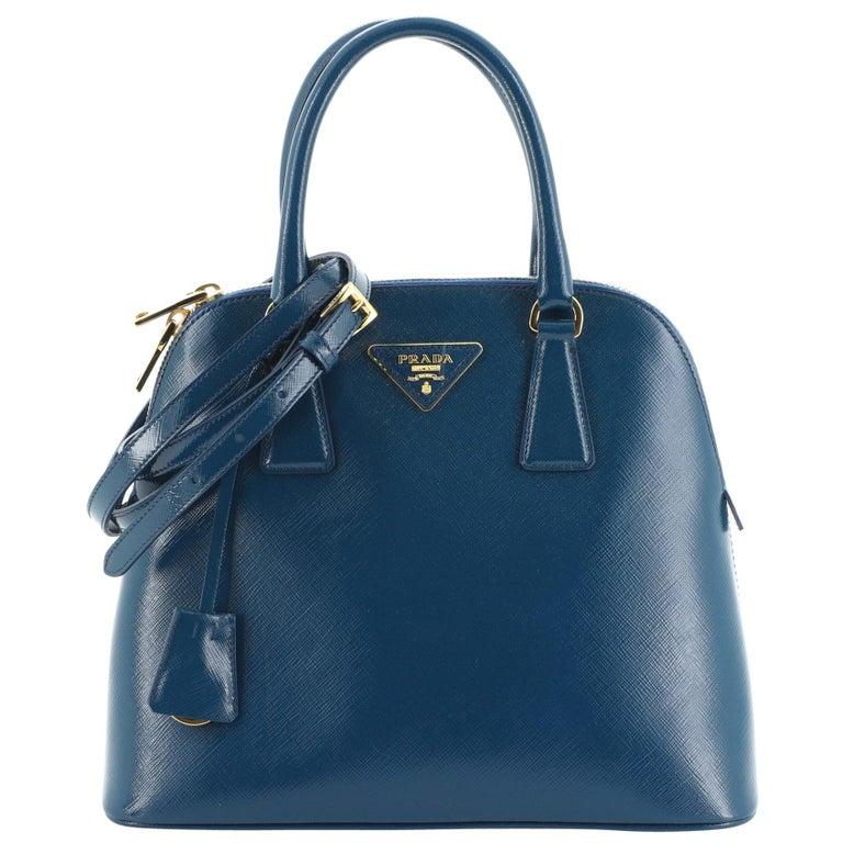 Prada Double Zip Lux Tote Saffiano Leather Mini For Sale