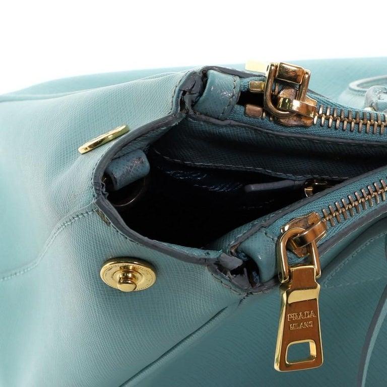 Prada Double Zip Lux Tote Saffiano Leather Small For Sale 1