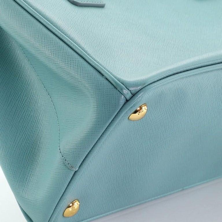 Prada Double Zip Lux Tote Saffiano Leather Small For Sale 3
