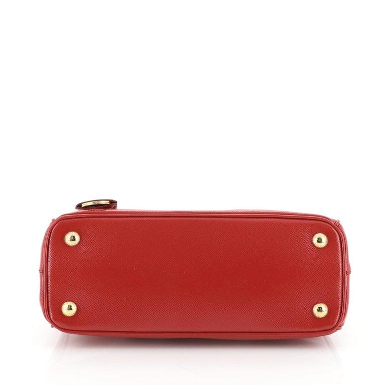 Women's or Men's Prada Double Zip Lux Tote Vernice Saffiano Leather Mini For Sale