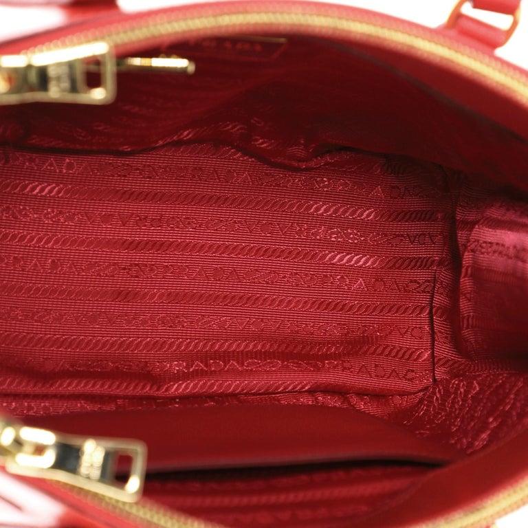 Prada Double Zip Lux Tote Vernice Saffiano Leather Mini For Sale 1